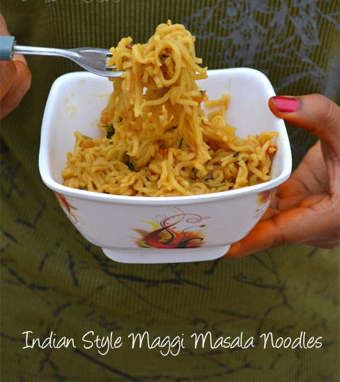 Indian Style Maggi Masala Noodles